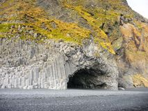 Basalt cave or cavern Stock Photos