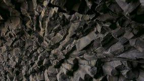 Basalt cave on Reynisfjara beach near Vik, Icealnd.  stock video
