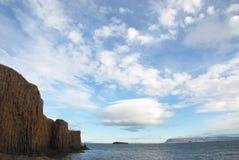 Basalt Cliffs of Iceland Royalty Free Stock Photo