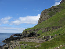 Basalt cliffs, Mull. Basalt cliffs, Isle of Mull, Scotland Royalty Free Stock Images