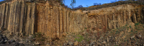 Basalt columns Royalty Free Stock Photography