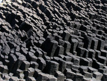 Basalt columns. Interesting shapes in basalt columns on a volcanic island royalty free stock photography