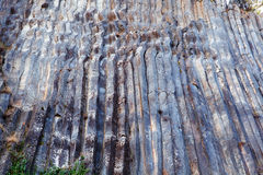 Basalt columns curvy. Curvy basalt columns - natural volcanic rock formation in Sinop Boyabat, Turkey Royalty Free Stock Photo