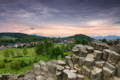 Basalt Columns_Czech republic Royalty Free Stock Image