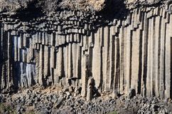 Basalt columns of Garni gorge,Armenia,Caucasus mountains,Asia Royalty Free Stock Photos