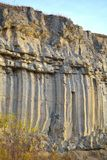 Basalt columns Stock Photography