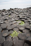 Basalt columns, Giant`s Causeway, Co. Antrim, Northern Ireland. The Giant`s Causeway is an area of about 40,000 interlocking basalt columns, the result of an stock photo