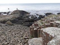 Basalt Columns Giants Causeway stock images
