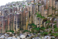 Basalt columns of Giants Causeway Royalty Free Stock Images