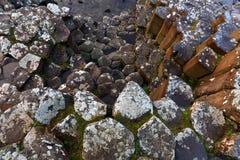 Basalt columns of Giants Causeway Royalty Free Stock Photos