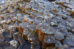 Basalt columns of Giants Causeway Stock Images
