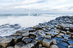 Basalt columns of Giants Causeway Royalty Free Stock Photography