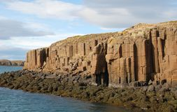 Basalt Columns Horizontal Stock Photo