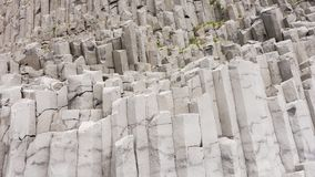 Basalt columns in Iceland. Basalt columns near the city Vik in Iceland royalty free stock images
