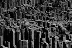 Basalt columns in Iceland, near Vik. Basalt columns in Iceland, near Vik Stock Photo