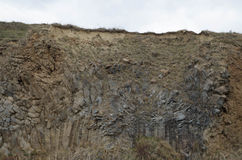 Basalt columns landscape X Stock Photo