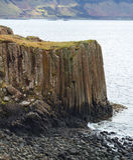 Basalt columns Stock Photo