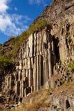 Basalt columns. Natural volcanic rock formation in Sinop Boyabat, Turkey Royalty Free Stock Photos