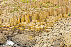 Basalt Columns and Pillow Lava at the Giant's Causeway Stock Image