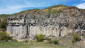 Basalt Columns Racos Romania stock photo