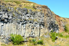 Basalt columns rocks in Racos, Transylvania Royalty Free Stock Photography