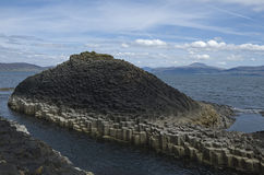 Basalt columns, Staffa. The unusual, if not surreal, landscape of basalt columns on the isle of Staffa, Scotland Royalty Free Stock Image