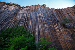 Basalt columns texture Stock Photography