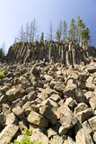 Basalt Rock Columns,Yellowstone National Park Royalty Free Stock Photography