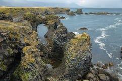 Basalt formations at Arnarstapi Royalty Free Stock Photography