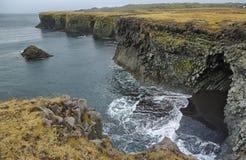 Basalt formations at Arnarstapi Royalty Free Stock Photo