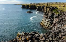 Basalt formations on the coast of Iceland. Basalt formations on the west coast of Iceland Royalty Free Stock Photography