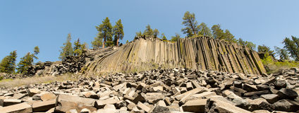 Basalt Formations at Devil's Postpile National Monument Stock Photo