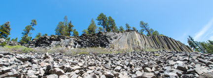 Basalt Formations at Devil's Postpile National Monument Stock Images
