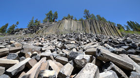 Basalt Formations at Devil's Postpile National Monument Royalty Free Stock Photo
