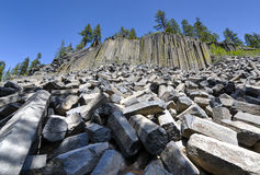 Basalt Formations at Devil's Postpile National Monument Stock Photos