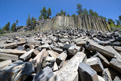 Basalt Formations at Devil's Postpile National Monument Stock Photography