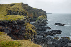 Basalt formations at Londrangar Stock Photo
