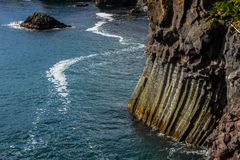 Basalt formations on the coast of Iceland. Basalt formations on the west coast of Iceland Stock Images