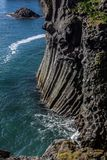 Basalt formations on the coast of Iceland. Basalt formations on the west coast of Iceland Stock Photography