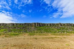 The basalt gerduberg cliffs located in iceland Stock Photo
