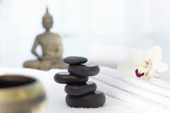 Basalt massage stones Stock Photography