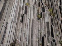 Basalt organ pipes - detail Stock Image