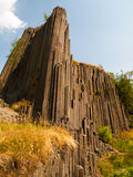Basalt organ pipes Stock Photo