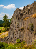 Basalt organ pipes Stock Image