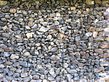 Basalt Outbuilding Wall. Built from rock or stone pieces (all of basalt royalty free stock photos