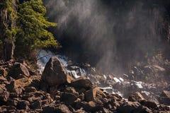 Basalt riverbed. In Iguazu falls national park Stock Images