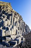 Basalt Rock columns Iceland Stock Images