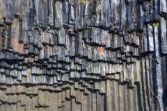 Basalt rock formation Stock Image