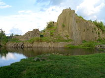 Basalt rock formation in northern Bohemia Stock Image
