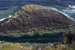 Basalt rock formation - Staffa - Scotland Stock Photo